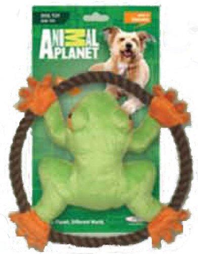 Animal Planet Tree Frog Frisbee Flyer Plush Dog Toy
