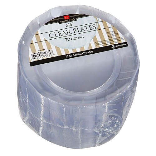 DISCOUNT Member\'s Mark 6 1/4 in. Clear Plastic Plates - 70-Count ...