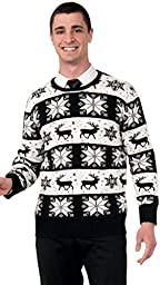 Forum Novelties Men\'s Plus Size Snow Drift Novelty Christmas Sweater, Multi, X-Large