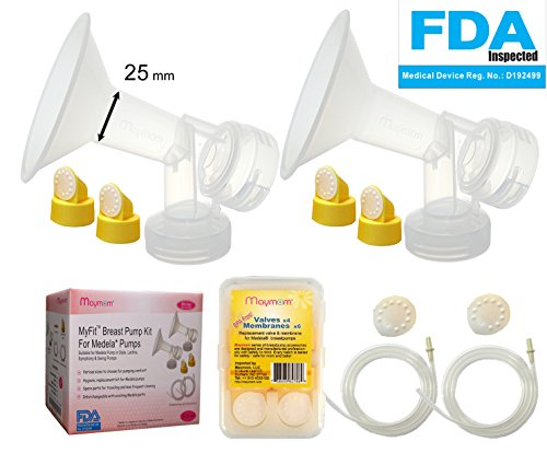 Purchase Breast Pump Kit for Medela Pump in Style Pump; 2 Breastshields (25 mm; Compareable to Medel...