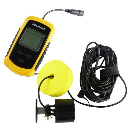 Portable Fish Finder With Round Sonar Sensor Lcd Display With Led Back-Lighting