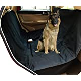 NAC&ZAC Deluxe Waterproof Pet Seat Cover With Bonus Pet Car Seat Belt for Cars and SUV -Nonslip, Quilted, Extra Side Flaps, Machine Washable Pet Hammock Car Seat Cover, Lifetime Warranty