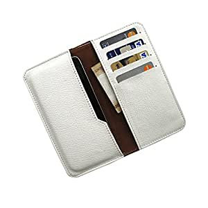 i-KitPit : PU Leather Wallet Flip Pouch Case For Gionee Pioneer P4 (WHITE)