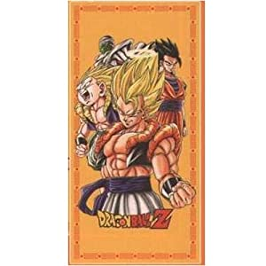 Bath beach towel with dragon ball z motif for Dragon ball z bathroom