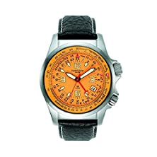 buy Torgoen Swiss Men'S T06102 Pilot Computer E6B Dual Time Zone Watch