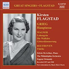 Flagstad, Kirsten: Songs and Arias (Philadelphia Orchestra, Ormandy) (1937, 1940)
