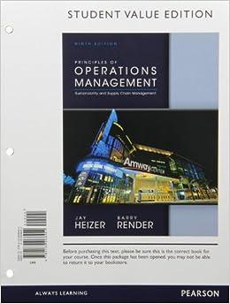 Operations management of principles pdf