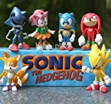 Cute and Classical Sonic the Hedgehog Action Figure Toy 6PC Per Set