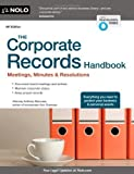 img - for The Corporate Records Handbook: Meetings, Minutes & Resolutions by Mancuso, Anthony (2013) Paperback book / textbook / text book