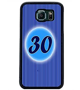 PrintDhaba Numerology Number 30 D-2589 Back Case Cover for SAMSUNG GALAXY S6 EDGE (Multi-Coloured)