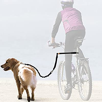 OxGord Pet Bicycle Leash Pet Safe Control Easy Soft no Pull Tug free - Safety Leash for small to large dogs | New for 2016