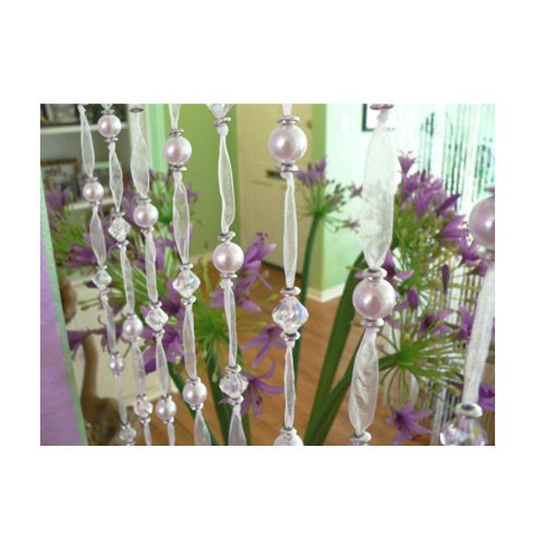 Amazon.com - Pearl & Crystal Beaded Ribbon Curtain - Wall Decor