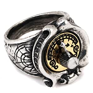 Feromonic Field Detector Steampunk Alchemy Gothic Ring - size 7