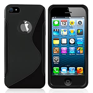 Minisuit S Shape Case Cover for iPhone 5/5S (Black)