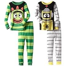 Yo Gabba Gabba Little Boys' Brobee & Plex Long-Sleeve Pajama Set, Multi, 3T