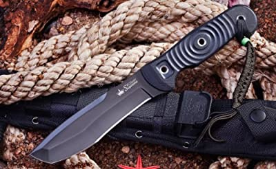 Kizlyar KK0220 Vendetta AUS-8 Russian Made Titanium Tactical Knife, Black by CAS HANWEI :: Combat Knife :: Tactical Knife :: Hunting Knife :: Fixed Blade Knife :: Folding Blade Knife