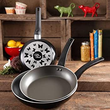 The Pioneer Woman Butterfly 3-Pc. Fry Pan Set