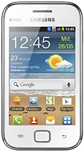 Samsung Galaxy Ace Duos S6802 Smartphone (8,9 cm (3,5 Zoll) Touchscreen, 5 Megapixel Kamera, Android 2.3) chic-white