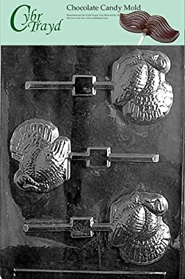 Cybrtrayd T030 Turkey Lolly Life of the Party Chocolate Candy Mold with Exclusive Cybrtrayd Copyrighted Chocolate Molding Instructions