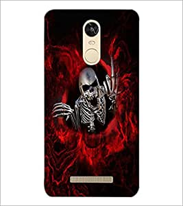 PrintDhaba Funny Skeleton D-4033 Back Case Cover for XIAOMI REDMI NOTE 3 PRO (Multi-Coloured)