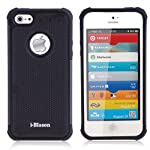 i-Blason Apple iPhone 5 iPhone 5s Armadillo Series 2 Layer Armored Hybrid Cover Case with Inner Soft Case and Hard Outter Shell AT&T, Verizon, Sprint, T-Mobile (Black)