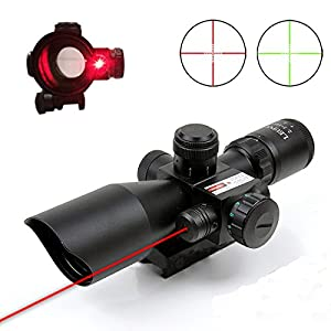 Pinty 2.5-10x40 AOEG Red Green Illuminated Mil-dot Tactical Rifle Scope