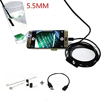 Useful Android Smartphone Usb Endoscope Inspection Camera 7Mm Diameter Ultra Slim 6 Leds Hd Ip67 Waterproof Snake Borescope Mini Usb Inspection Camera 5M 6.5Ft
