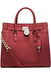 MICHAEL Michael Kors Hamilton Large Tote in Scarlet Red