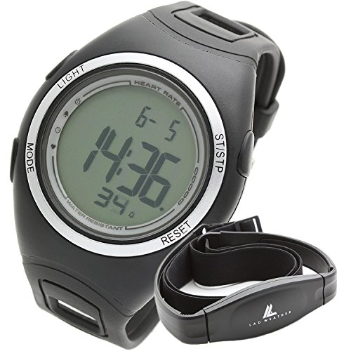 [LAD WEATHER] radweather watch wireless heart rate measurement marathon / running / heart rate / consumption calorie / measurement band men's clock