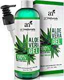 ArtNaturals Aloe Vera Gel for Face, Hair & Body - Organic, 100% Pure Natural & Cold Pressed 12 Oz - For Sun Burn, Eczema, Bug or Insect Bites, Dry Damaged Aging skin, Razor Bumps and Acne