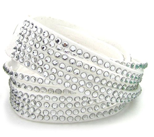 Glitzeez Fashion Bracelet, White - 1