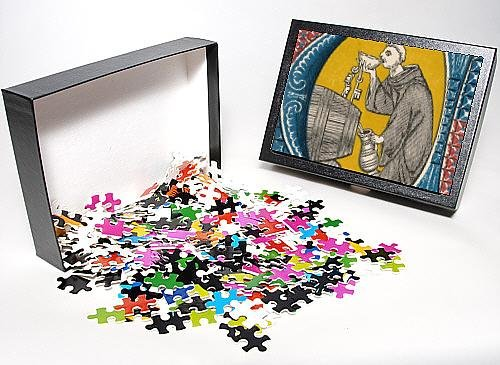 Photo Jigsaw Puzzle Of Monk In Wine-Cellar From Mary Evans front-631532