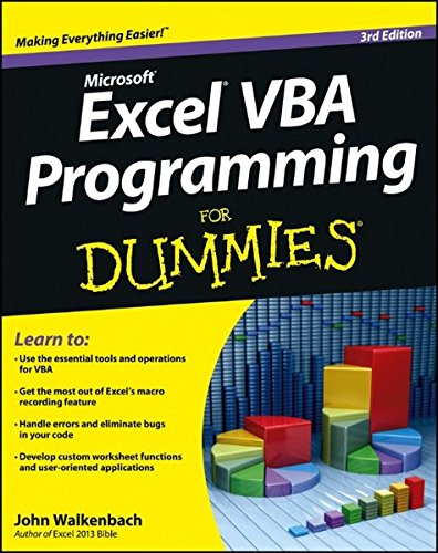 Excel VBA Programming For Dummies (Vba Programming 2013 compare prices)