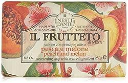 Nesti Dante Il Frutteto Peach and Melon Natural Fruit Scented Bar Soap for Bath Hands and Body 250g