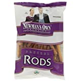 Newman's Own Organics Pretzels, Salted Rods, 8-Ounce Bags (Pack of 12) ~ Newman's Own