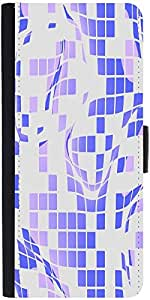 Snoogg Purple Checkered Pattern 2558 Designer Protective Phone Flip Case Cover For Phicomm Energy 653 4G