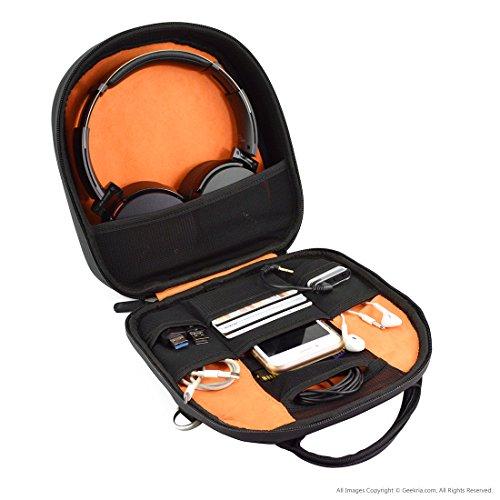 Geekria® elite cuffia Spalla Borsa/Custodia per Sony mdr-950bt, mdr10rbt, ATH M50x, Bose...