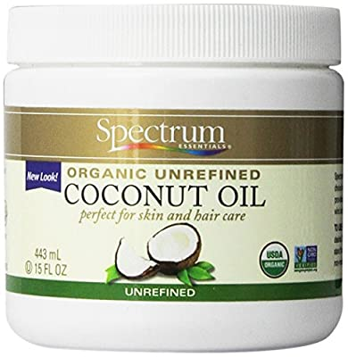 Spectrum Organic Unrefined Coconut Oil For Body & Hair -- 15 fl oz