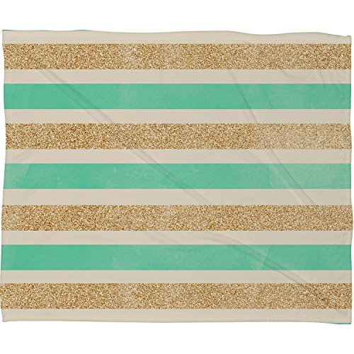 "DENY Designs Allyson Johnson Fleece Throw Blanket, Glitter and Mint, Small 40"" X 30"""