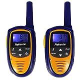 Retevis RT 31 Niños Walkie Talkies 0.5W UHF 446MHz CTCSS / DCS VOX LCD Pantalla 8 Canales (azul índigo, 1 par)