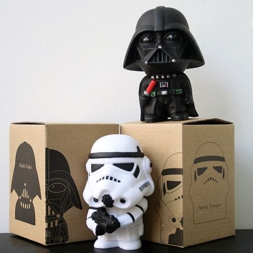 [2pcs Set Star Wars Darth Vader & Stormtrooper 10cm / 4