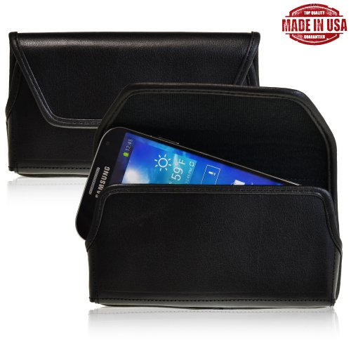 Turtleback Samsung Galaxy S4 Iv Genuine Leather Holster Case Pouch With Metal Belt Clip - Made In Usa
