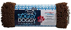 Soggy Doggy Productions Soggy Doggy Pet Door Mat, Dark Chocolate