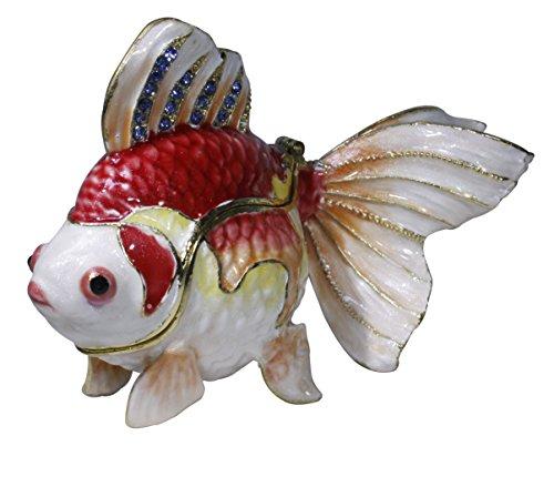 Cristiani Collezione Red Goldfish Trinket Box
