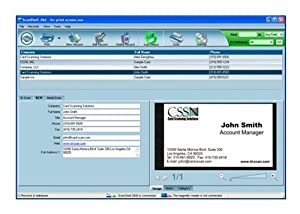 Amazoncom cssn scanshellnet business cards portable for Business card database