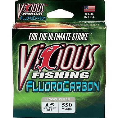 Vicious 550 Yard Fluorocarbon Fishing Line