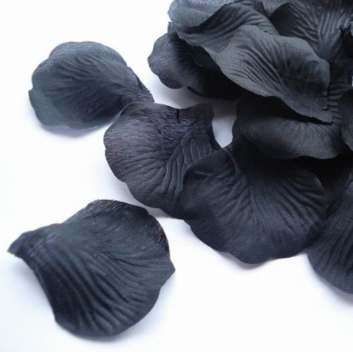 1000pcs Black Silk Rose Petals Bouquet Artificial Flower Wedding Party Aisle Decor Tabl Scatters Confetti