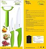 """KitchenDoReMi® Ceramic Knife Set - 6"""" Chef Knife, 4"""" Utility Knife, Vegetable Fruit Peeler"""