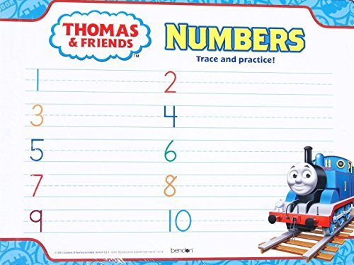Thomas and Friends Wipe Clean Dry Erase Numbers Trace and Practice Activity Board - 12in x 9in