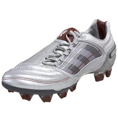adidas Women's X Predator X Firm Ground Soccer Cleat,Silver/Steel/Brick,10.5 M